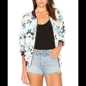 Sanctuary Havana Bomber Jacket floral sz LG